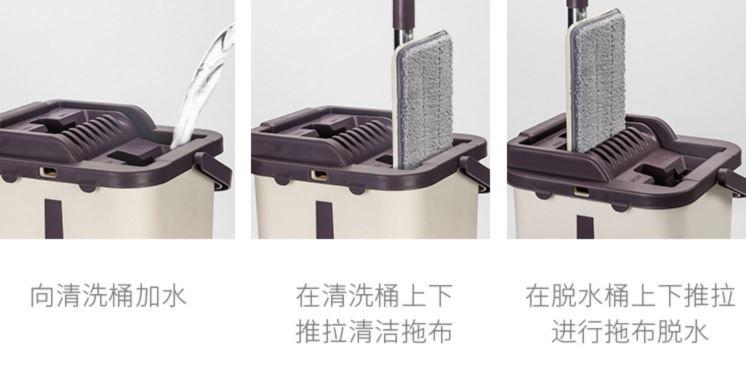 Shippingจีน Flat Mop ไม้ถูพื้นพร้อมถังปั่น ไม่เลอะมือ shippingจีน Shippingจีน Flat Mop ไม้ถูพื้นพร้อมถังปั่น ไม่เลอะมือ 170605