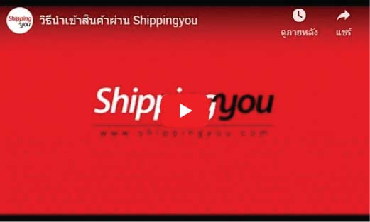 นำเข้าสินค้าจากจีน วิธีส่งสินค้า shippingyou2