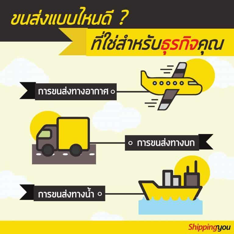 ชิปปิ้งรถเรือเครื่องบิน ชิปปิ้ง ชิปปิ้ง เลือกขนส่งแบบไหน ที่ใช่สำหรับธุรกิจ shippingyou1 1 768x768