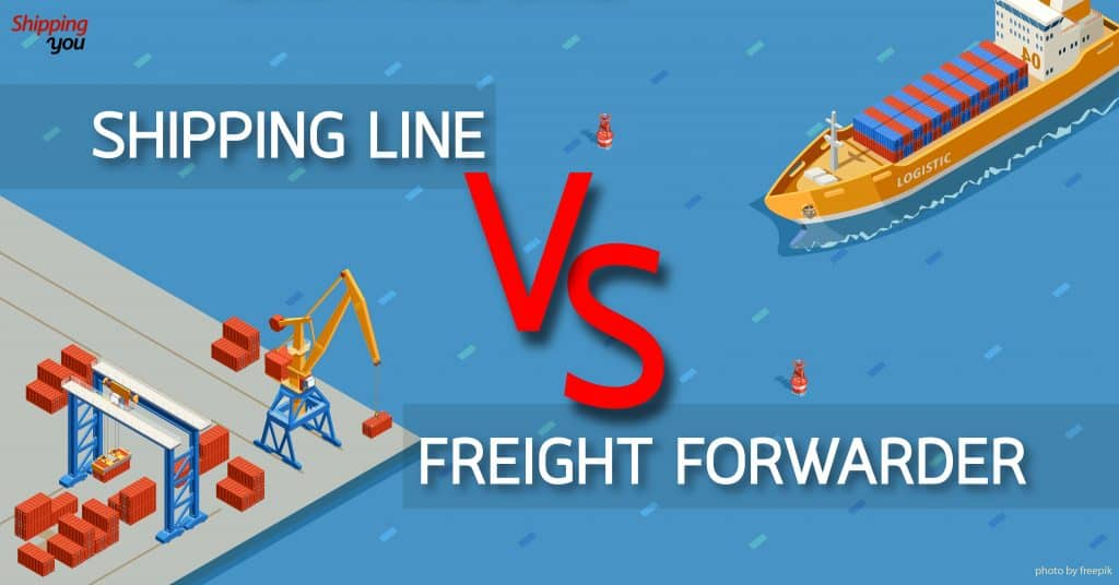 1688 Shipping Line VS Freight Forwarder 1688 1688 ข้อดี VS ข้อจำกัดของ Shipping Line และ Freight Forwarder Shipping Line VS Freight Forwarder shippingyou 1024x536